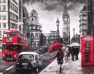 "Картина по номерам на холсте 40х50 ""Лондон"""