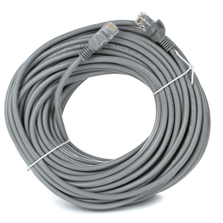 Патчкорд литой  TV-COM многожильный UTP кат.5е 20м серый <NP511-20M>