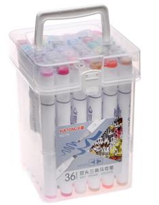 Набор маркеров для скетчинга двусторонние 36 штук/36 цветов