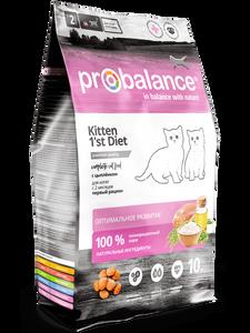 Сухой корм ProBalance 1'st Diet Корм для котят с цыпленком 10 кг.