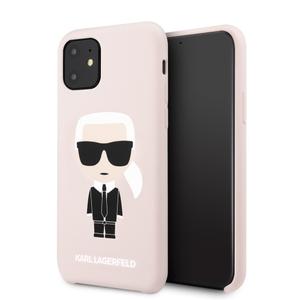 Чехол Lagerfeld для iPhone 11 Liquid silicone Iconic Karl Hard Pink