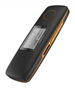 "Плеер Flash Digma U3 4Gb черный/оранжевый/1.1""/FM/microSD/microSDHC"