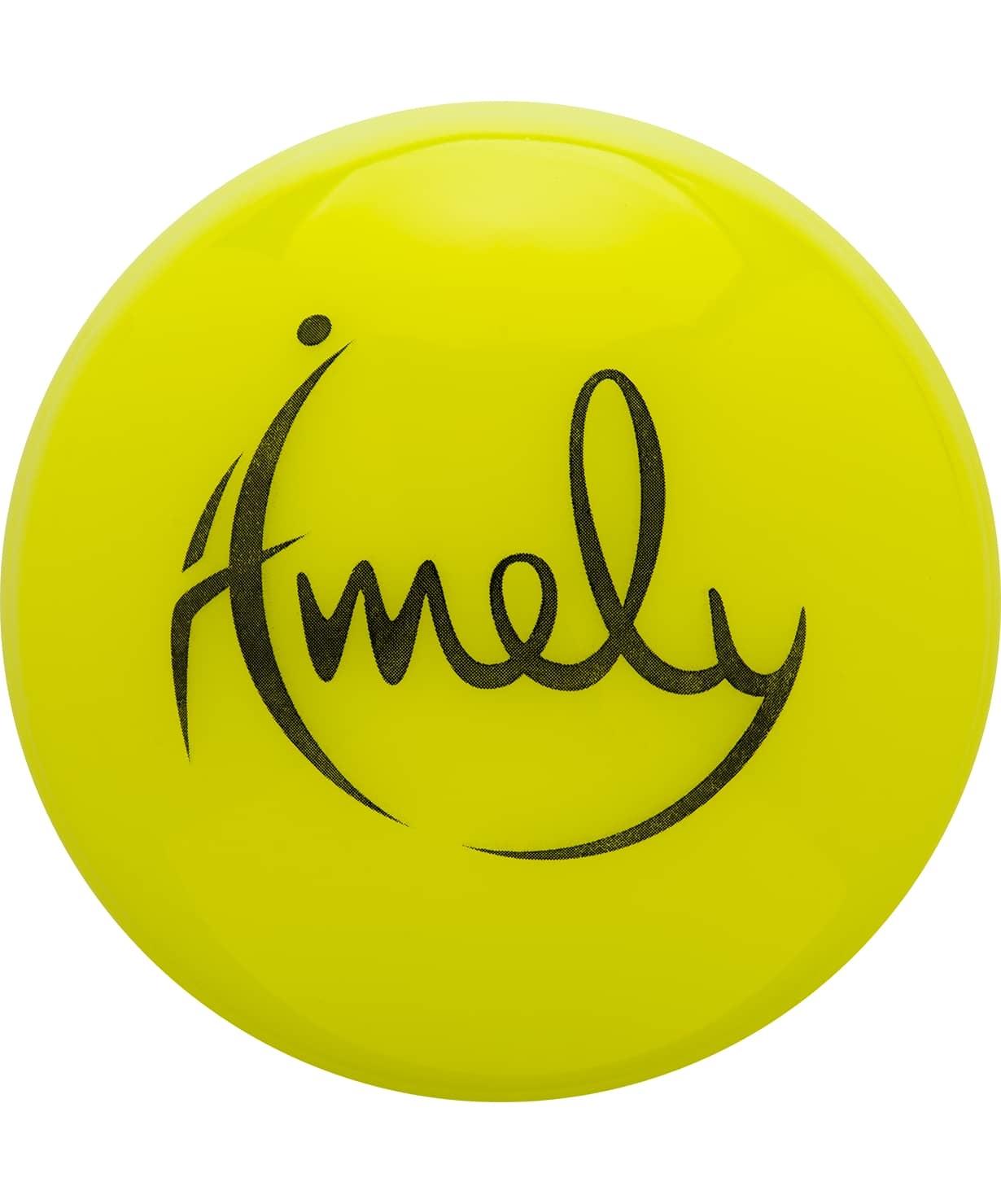 Мяч для художественной гимнастики AGB-301 15 см, желтый