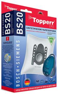 1401 BS20 Topperr Фильтр синтетический д/пылесоса BOSCH-SIEMENS (Тип A,B,C,D,E,F,G,H) 4 шт.в ед.