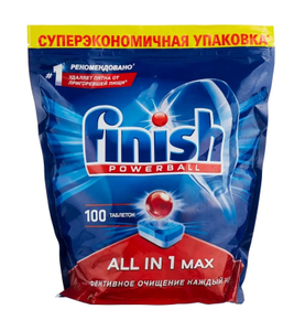 Таблетки для посудомоечной машины All in 1 100шт Finish