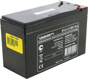 Аккумулятор Ippon IP12-7 (12V, 7Ah) для UPS