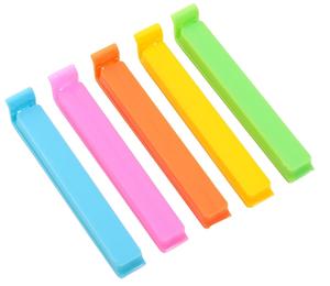 Набор зажимов для пакета «Лед», 11 см, 5 шт, цвет МИКС
