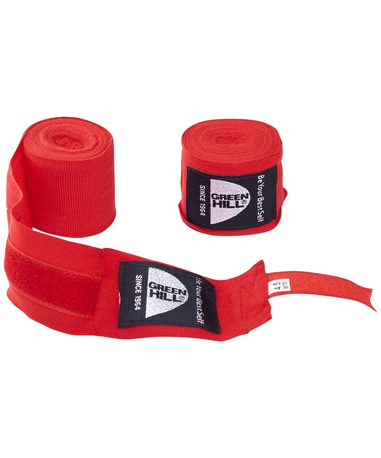 Бинт боксерский BP-6232d, 4,5м, эластик, красный