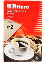 Filtero фильтры для кофе, №2/80, коричневые для кофеварок с колбой на 4-8 чашек