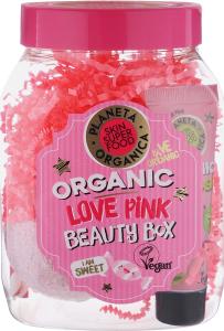 """Подарочный набор по уходу за лицом и телом """"LOVE PINK """" Planeta Organica"""