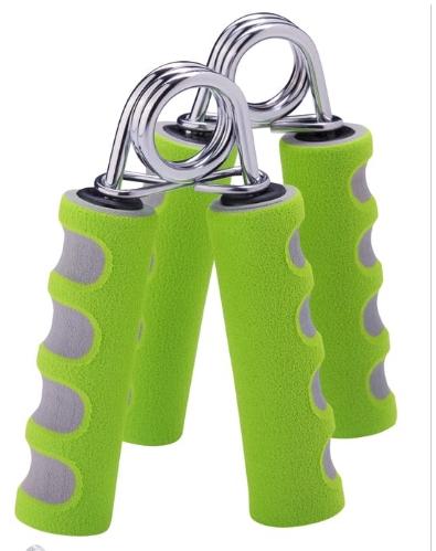 Эспандер кистевой STARFIT ES-304 пружинный, эргономичный, мягкая ручка, зеленый/серый (2шт.) 1/24