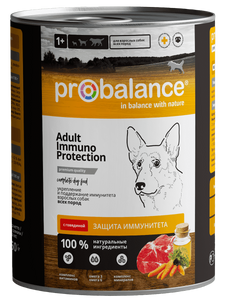 """Консервированный корм для собак ProBalance """"Immuno Protection"""" с говядиной 12 шт. х 850 г"""