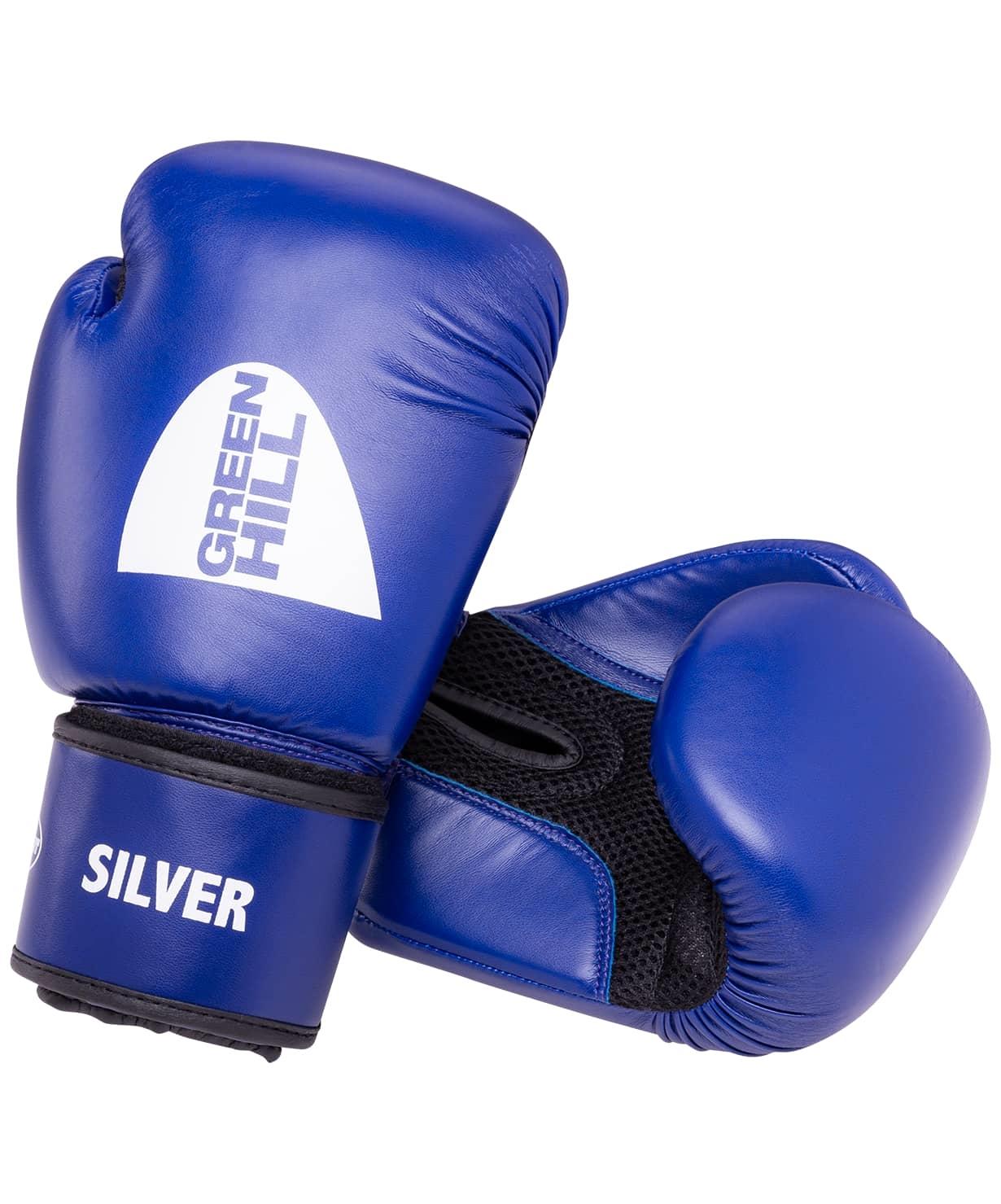 Перчатки боксерские SILVER BGS-2039, 14oz, к/з, синий