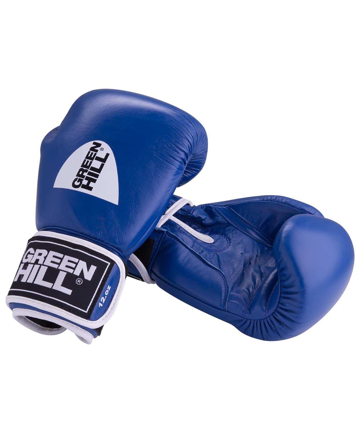 Перчатки боксерские GYM BGG-2018, 10oz, кожа, синие